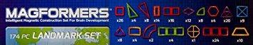 juego magformers punto de referencia conjunto (174 piezas)