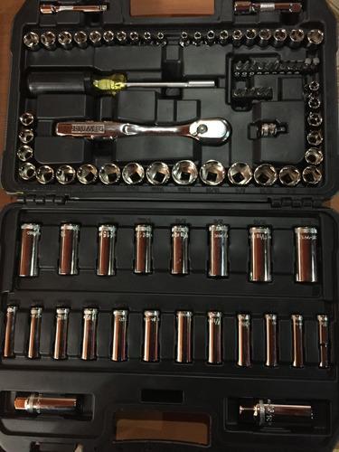 juego (maleta) dados 84 piezas 1/4 - 3/8