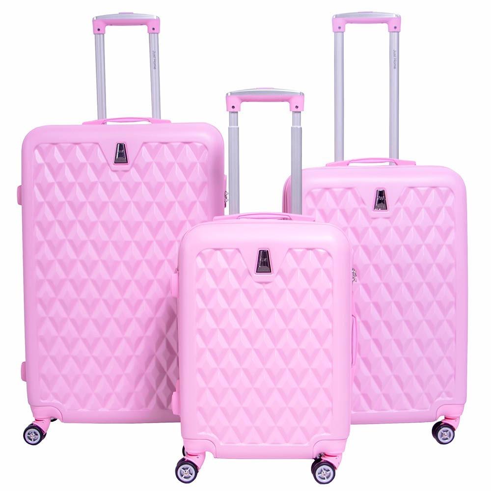 56b30c4a6 juego maletas set kit 3 rigidas viaje ejecutiva maleta rosa. Cargando zoom.