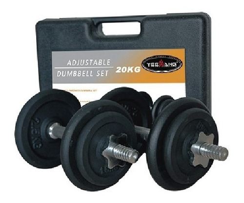 juego mancuernas con pesas hierro 20kg gimnasio nuevas
