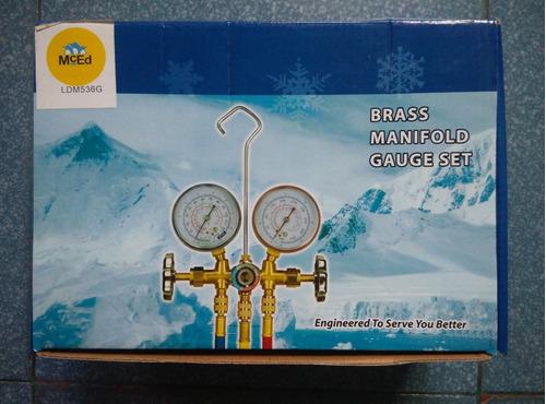 juego manometros mangueras visor refrigeración r12 r22 r134a