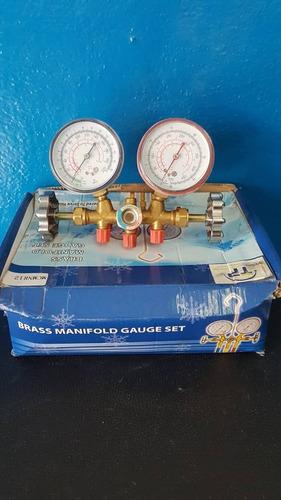 juego manómetros mangueras visor refrigeración r12 r22 r134a