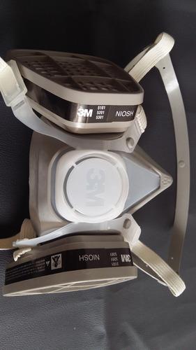 juego mascara 3m con filtros fumigacion plaguicidas pintura
