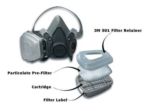 juego mascara antigas 6200 3m p/formol retenedor prefiltro