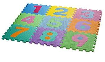 juego mat multicolor números puzzle juego de kid hemingweig