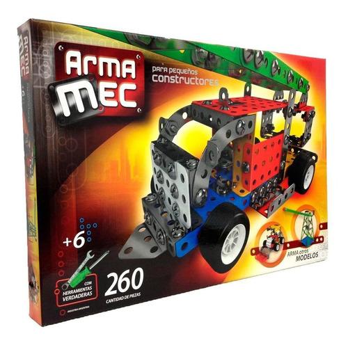 juego mecano caja 260 piezas con herramientas reales promo!