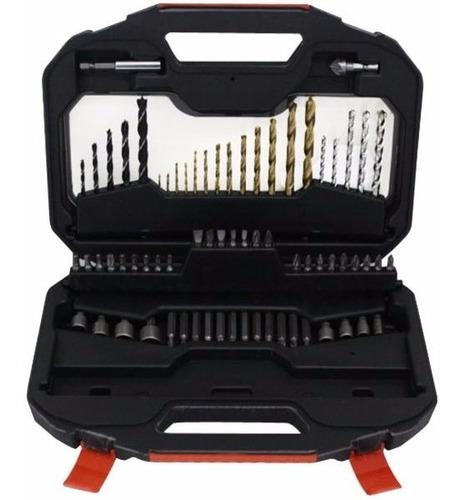 juego mechas puntas tubos 70 piezas black + decker