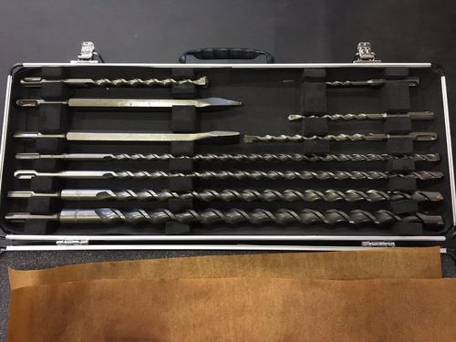 juego mechas y cinceles sds plus makita 10p. malet. aluminio