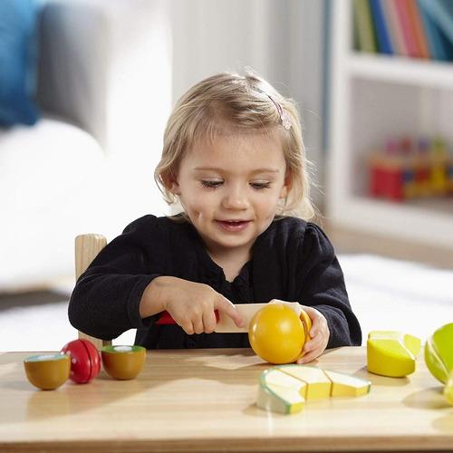 juego melissa & doug cutting fruit set wooden play food
