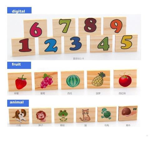 juego memoria didáctico madera educativo