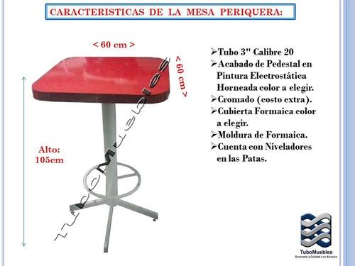 juego mesa-4banco periquera 70cm m.f. bar launge cafeteria
