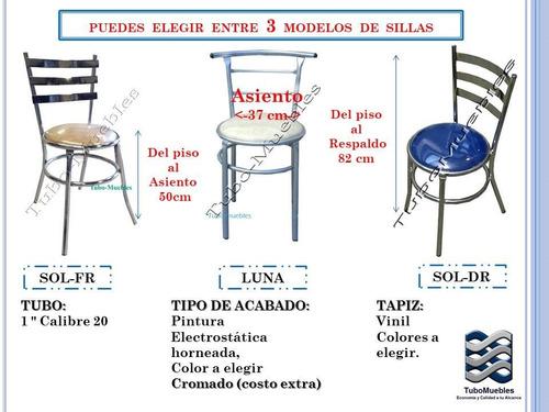 juego mesa-4sillas 70cm m formaica bar launge cafeteria nego