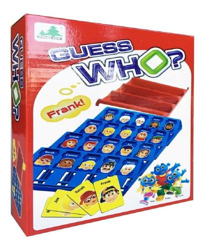 juego mesa adivina quien portable multijugador guess who?