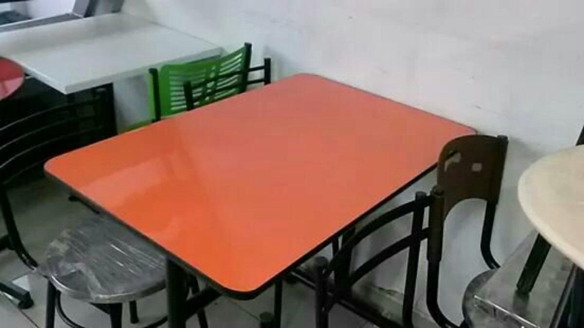Juego mesa comedor madera y 4 sillas para restaurante bar - Mesa comedor 4 sillas ...