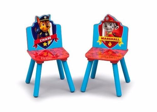 Juego mesa con 2 sillas mesita infantil jr paw patrol azul - Mesita con sillas infantiles ...