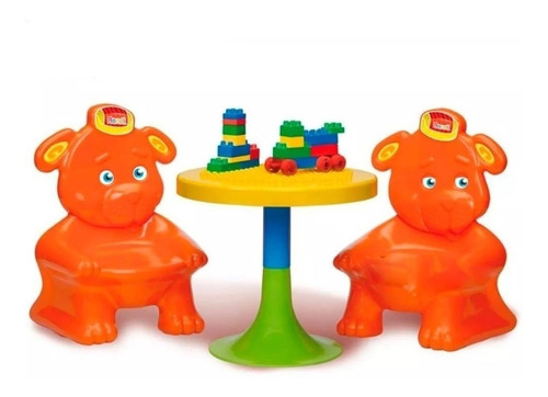 juego mesa didáctica y sillas rondi construccion 3130