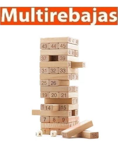juego mesa habilidad mental madera jenga grande30cm