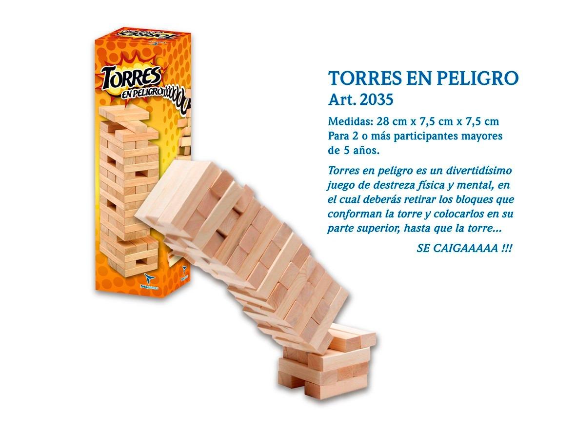 Torres En Peligro Juego De Mesa Tipo Jenga 291 95 En Mercado Libre