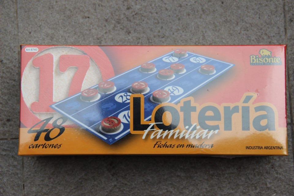 Juego Mesa Loteria Familiar Bisonte 390 00 En Mercado Libre