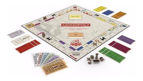 juego mesa monopoly aniversario 80 años b0622 español