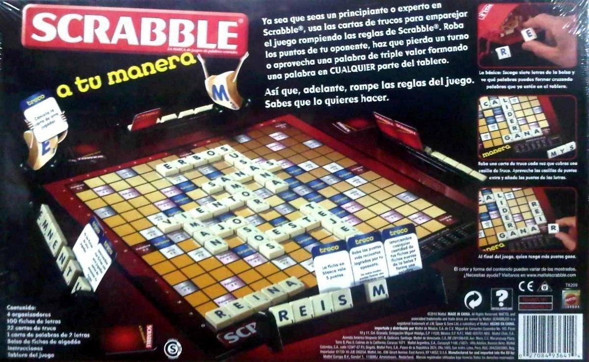 Juego De Mesa Scrabble A Tu Manera Original Mattel 549 90 En