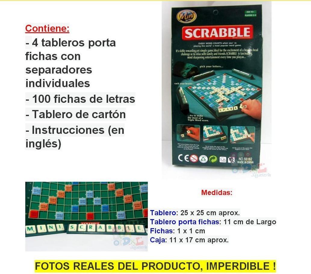 Mini Scrabble Original Juego De Mesa Escrabel Un Clasico 299 00
