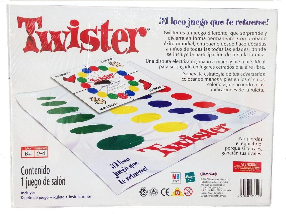 Juego De Mesa Twister Version Original De Hasbro Toyco 1 250 00