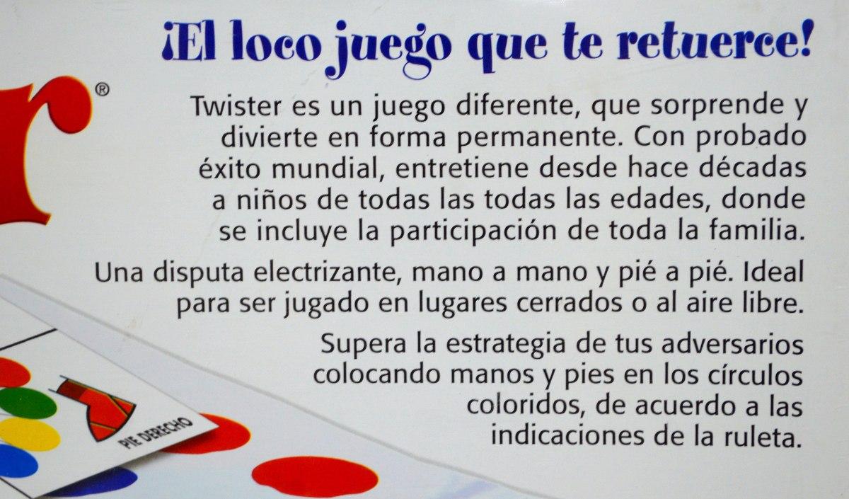 Twister Juego De Mesa Hasbro Original Casa Superbland 1 200 00