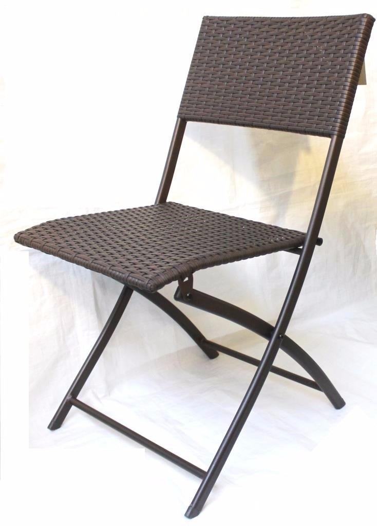 juego mesa y dos sillas ratn marrn plegable jardn balcn