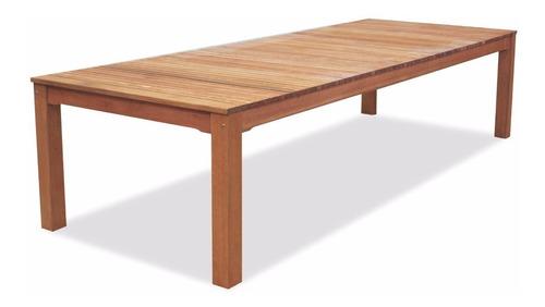 juego mesa y sillas de jardin trento 3m con 12 sillones euca