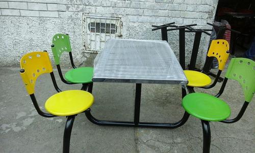 juego mesas y sillas restaurante cafetería panadería