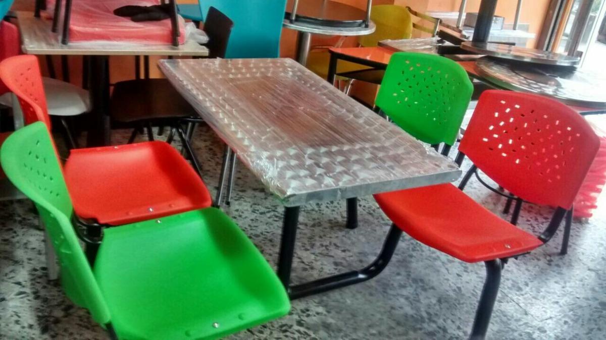 Juego Mesas Y Sillas Wimpy Para Restaurante Cafeteria Bar  # Muebles Wimpy Bogota