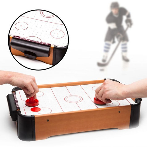 juego mini air hockey con ventiladores