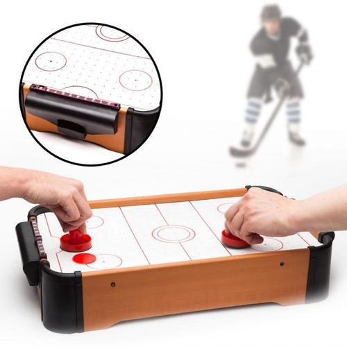 juego mini air hockey con ventiladores