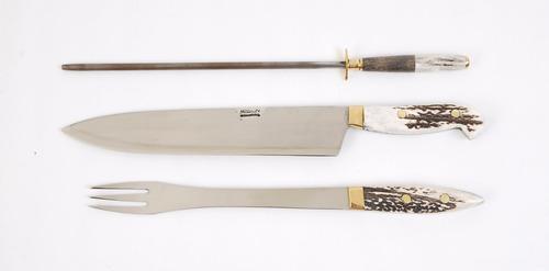 juego mission cuchillo tenedor chaira hoja 24 cm. 0855