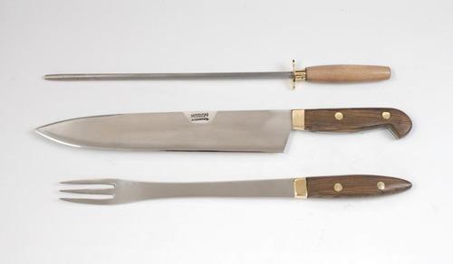 juego mission cuchillo tenedor chaira hoja 24 cm. fábrica!