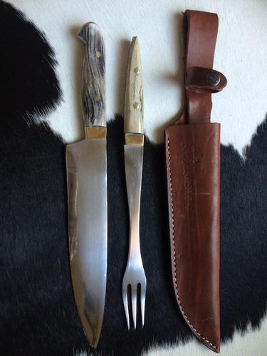 juego mission cuchillo tenedor parrilla hoja 24 cm.