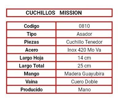 juego mission doble parrilla hoja 13 cm  cod 0810