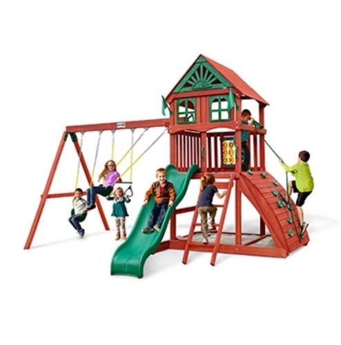 juego modular de madera resistente a exterior