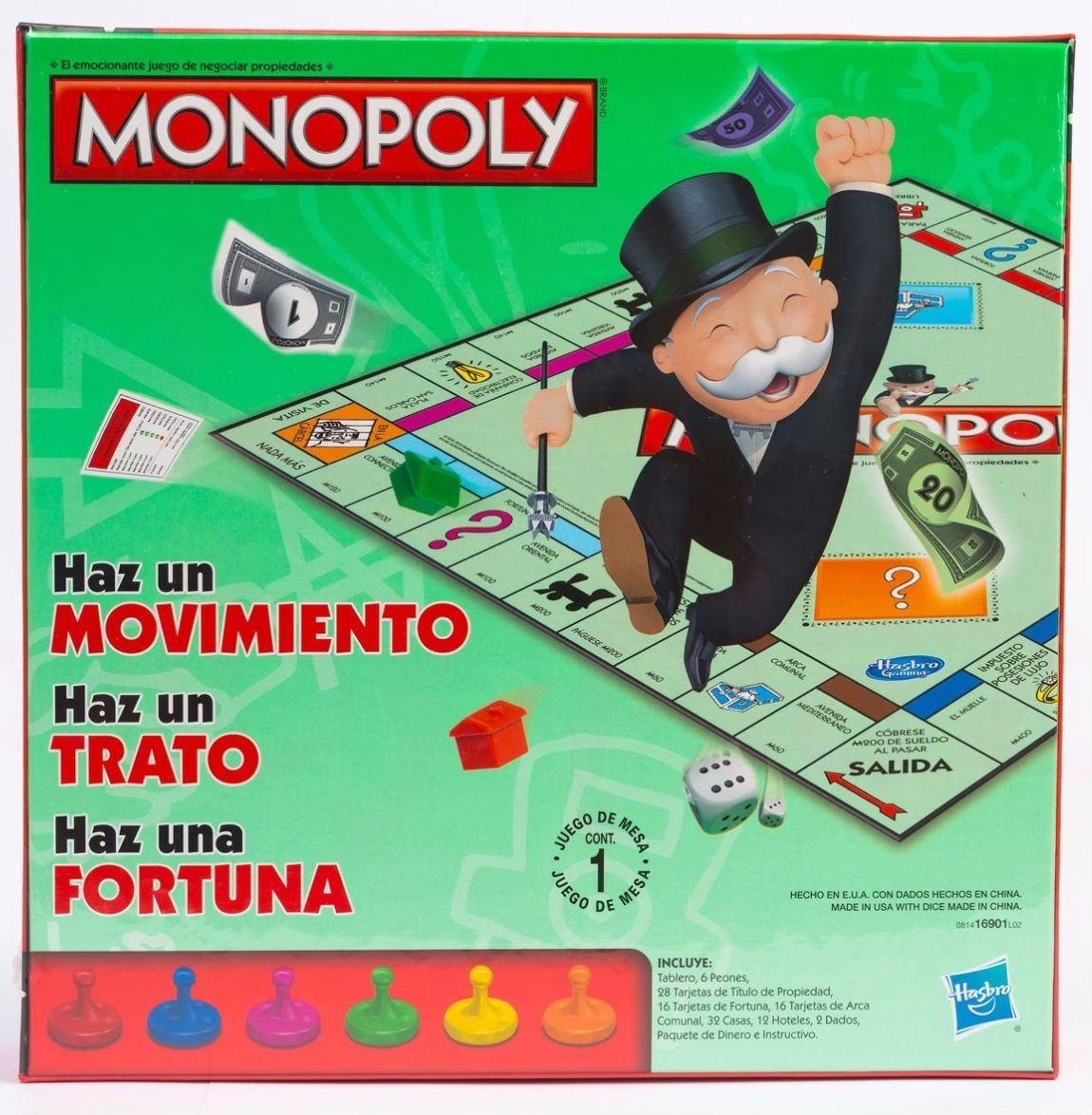 Juego Monopoly Clasico Para Ninos Y Adultos Juego De Mesa 70 900