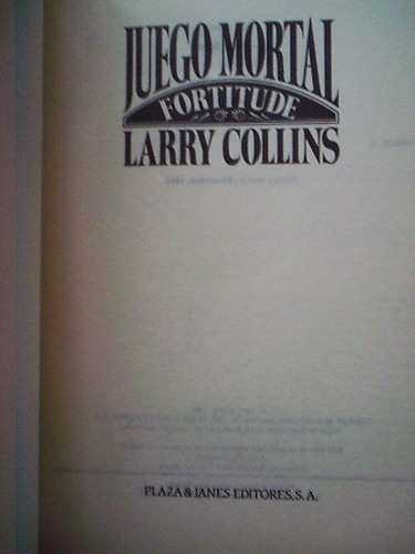 juego mortal  larry collins, best seller