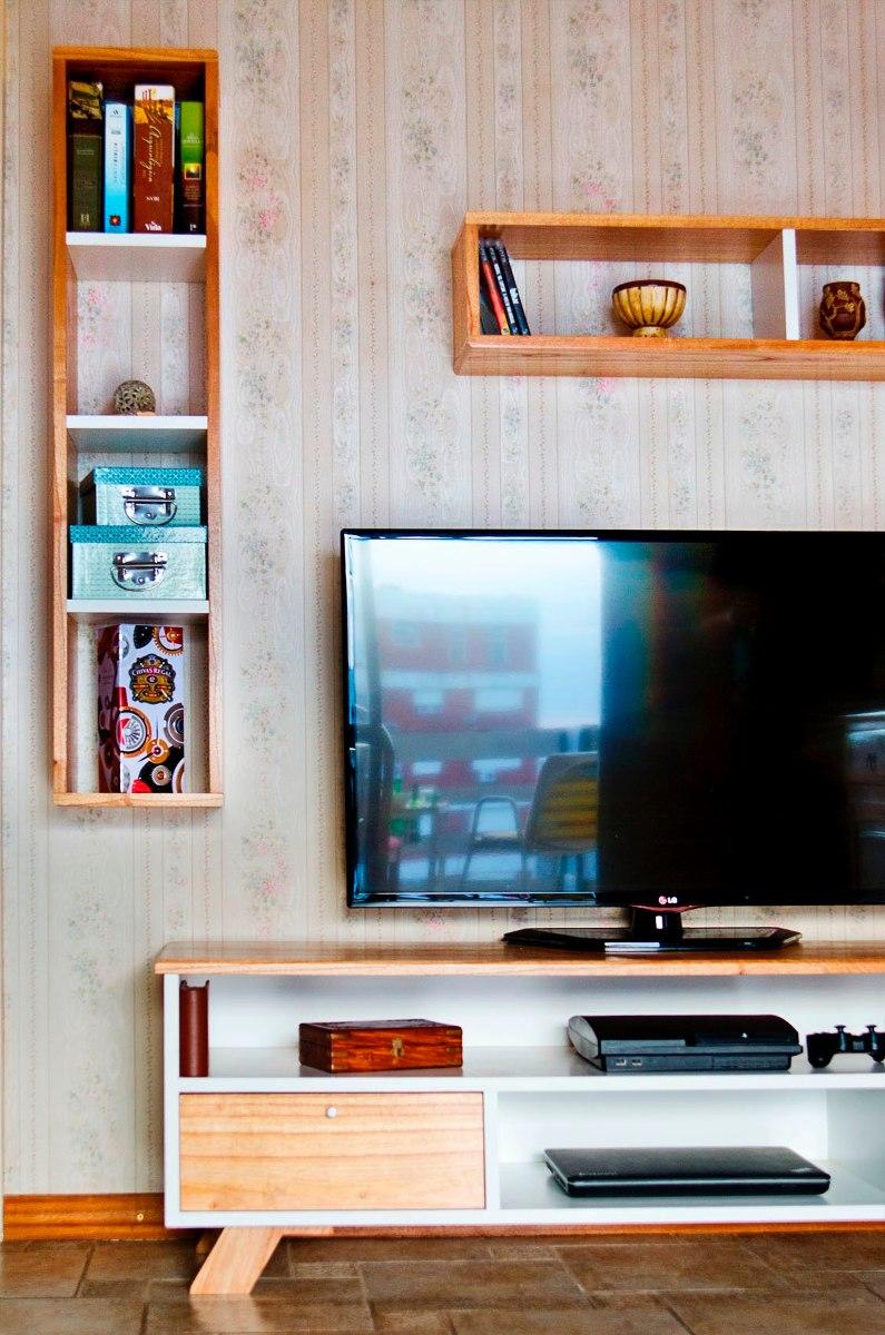 Juego Mueble Tv Madera Paraiso Nordico Escandinavo Laqueado ...