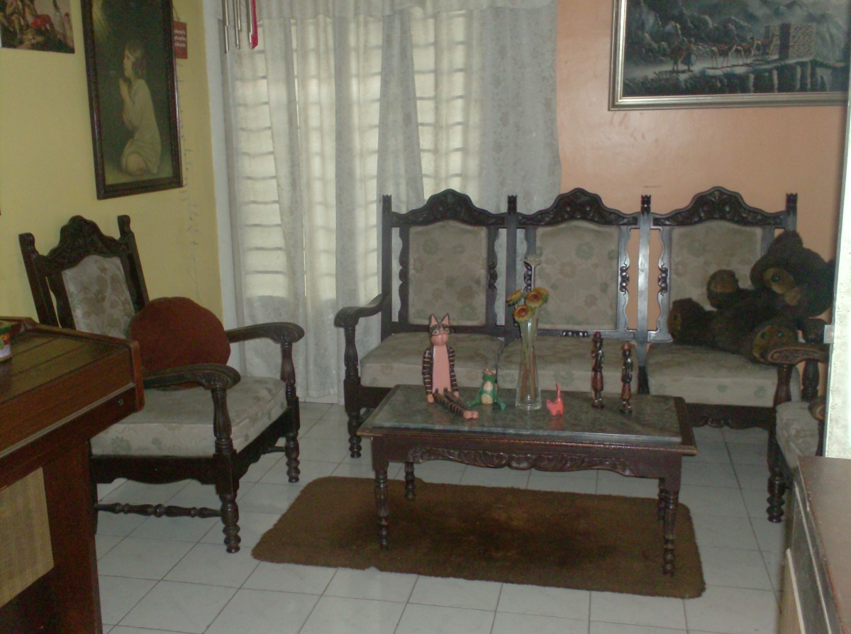Juego Muebles De Madera Sala Recibo Palermo Antiguos Bs 49 500  # Muebles Palermo