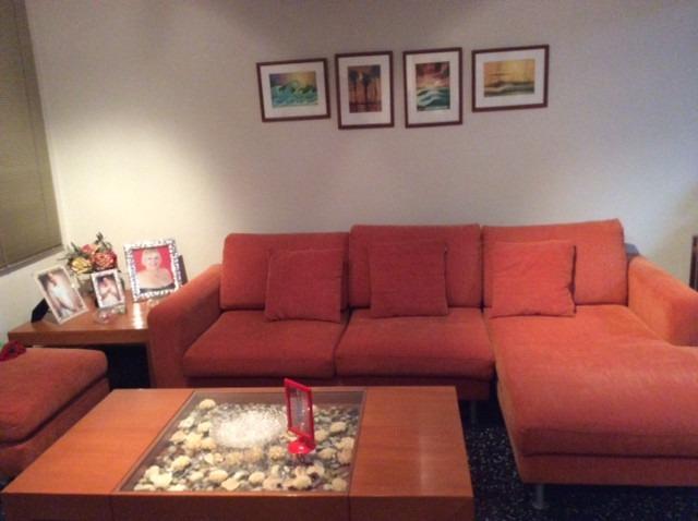 Juego muebles de sala sofá en l modular recibo puff cojines   bs ...