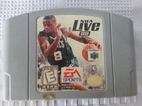 juego nintendo 64 n64 nba live 99 original
