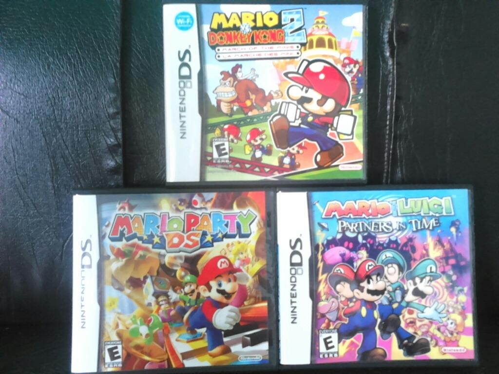 Juego Nintendo Ds Lite Mario Party Mario Luigi Mario Donkey2 Bs