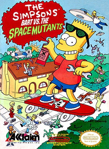 juego nintendo nes - bart vs space mutant