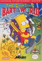juego nintendo nes - bart vs the wold (simpsons)