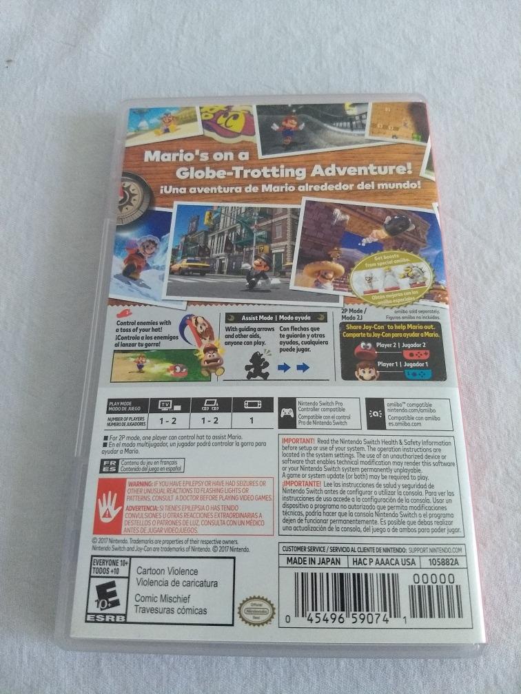 Juego Super Mario Odyssey Nintendo Switch Envio Gratis 1 200 00