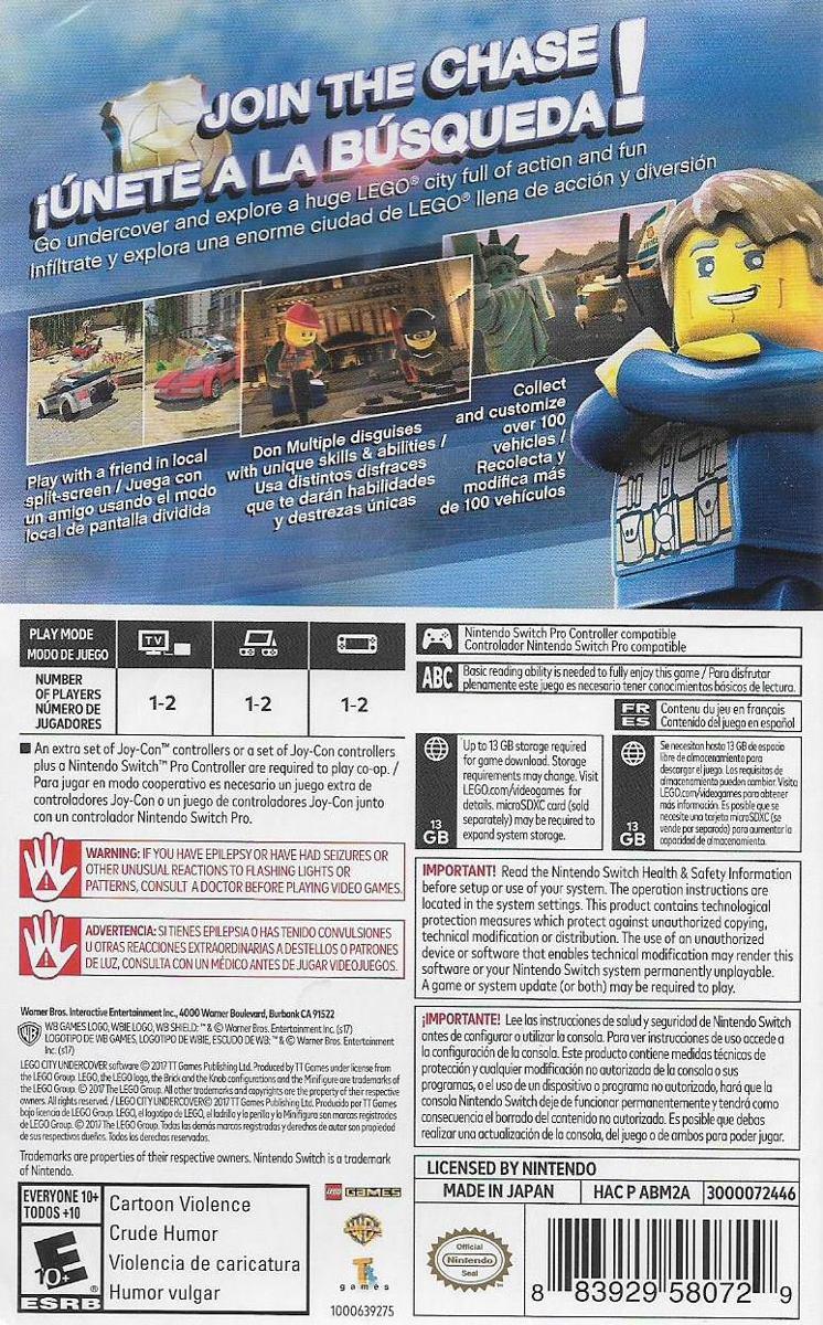 Juego Lego City Nintendo Switch Ibushak Gaming 999 00 En Mercado